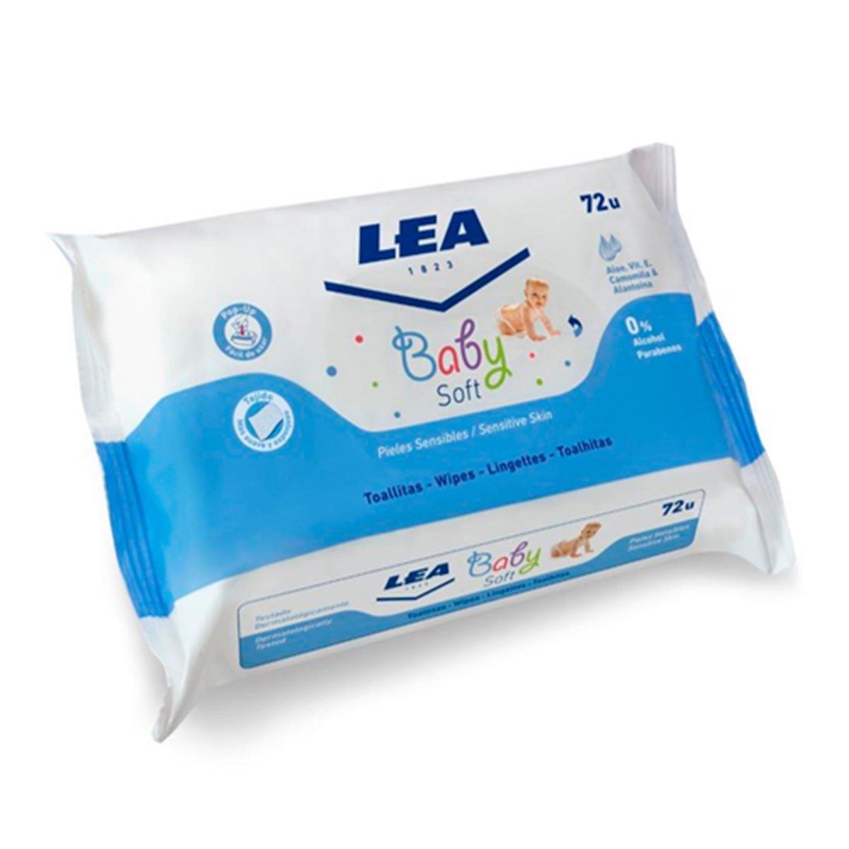 Lea Baby Soft Lingettes Peau Sensibles 72 Unites